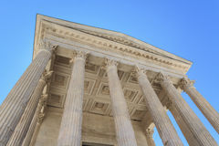 Roman Temple in Nimes, Provence, France Royalty Free Stock Photo