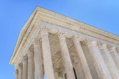 Roman Temple in Nimes, Provence, France Royalty Free Stock Photos