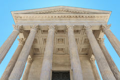 Roman Temple in Nimes, Provence, France Royalty Free Stock Image