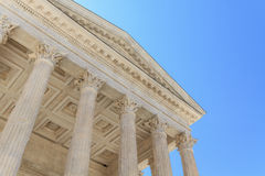 Roman Temple in Nimes, Provence, France Stock Image