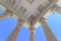 Roman Temple in Nimes, Provence, France Royalty Free Stock Photography