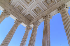 Roman Temple in Nimes, Provence, France Royalty Free Stock Images
