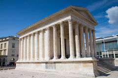 Roman temple of Nimes Royalty Free Stock Photo