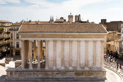 Roman temple of Nimes Stock Photo