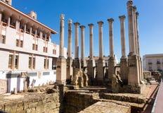 Roman Temple in old city of Cordoba, Spain Stock Photo