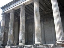 Roman Temple at Pompei Stock Photo