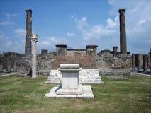 Roman Temple at Pompei Stock Image
