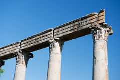 Roman temple in Riez stock photos