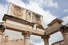 Roman temple ruins Royalty Free Stock Image