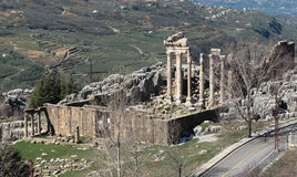 Roman Temple Ruins at Faqra (Lebanon) Royalty Free Stock Photo