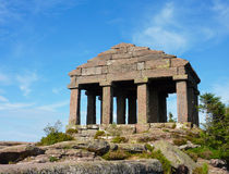 Roman temple at the top of Col du Donon Royalty Free Stock Images