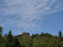 Roman temple at the top of Col du Donon Stock Photography