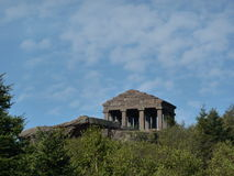 Roman temple at the top of Col du Donon Stock Photo
