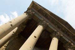 Roman temple of Vic Stock Photos