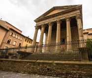 The Roman Temple at Vic Stock Image