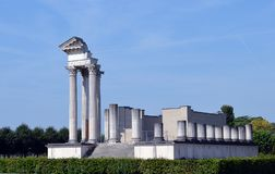 Roman temple at Xanten, Germany Stock Images