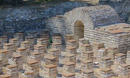 Roman terms. Ancient roman terms in Dion at summer Stock Photo