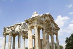 Roman tetrapylon gateway Stock Photos