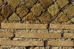 roman texturvägg royaltyfria foton