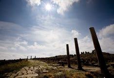 roman thamugadi för forntida väg arkivfoton