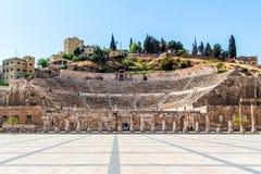 Roman Theater à Amman Image libre de droits