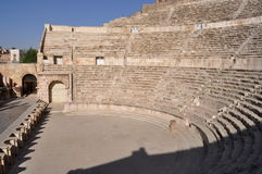 Roman Theater. Roman ruins in Amman,Jordan Stock Image