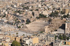 Roman Theater. Amman panorama from the citadel Stock Photography