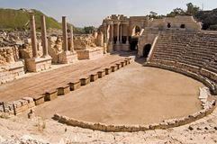 Roman Theater Stock Foto's