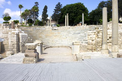 The Roman Theater in Alexandria Stock Photos