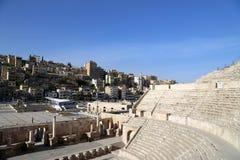 Roman theater in Amman, Jordanië Stock Foto's