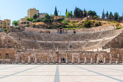 The Roman Theater in Amman Stock Photo