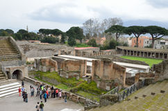 Roman theater in the ancient city Pompeii Stock Photography