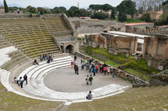 Roman theater in the ancient city Pompeii Stock Image