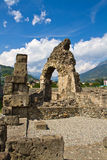 Roman theater in Aosta Royalty Free Stock Photos