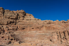 Roman theater arena in nabatean city of  petra jordan Stock Photo
