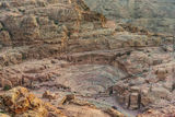 Roman theater arena in nabatean city of  petra jordan Stock Images