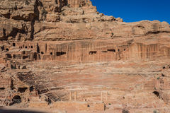 Roman theater arena in Nabatean city of  Petra Jordan Royalty Free Stock Photos