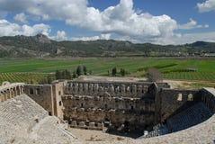 Roman theater - Aspendos Stock Photo