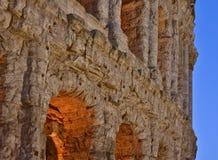 Roman theater blue hour Stock Photo