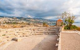 Roman Theater at Byblos, Lebanon royalty free stock photo