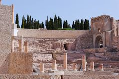 Roman Theater in Cartagena Royalty Free Stock Photo