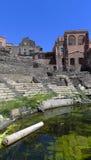 Roman theater, Catanië, Sicilië royalty-vrije stock afbeelding