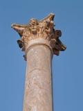Roman theater column capital Royalty Free Stock Photos