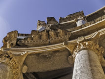 Roman Theater columns detail Royalty Free Stock Images