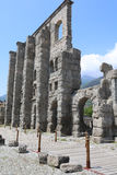 Roman Theater de Aosta Foto de archivo