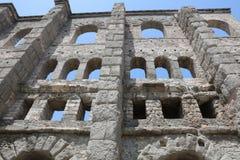 Roman Theater de Aosta Imagenes de archivo