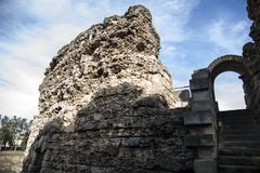 Roman Theater de Merida, Espanha, século I BC foto de stock royalty free