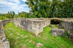Roman theater Dion, Pieria, Griekenland royalty-vrije stock afbeelding