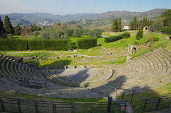 The roman theater of Fiesole Stock Images