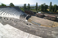Roman Theater in Heraclea Lyncestis, Bitola - Mace Royalty Free Stock Photos